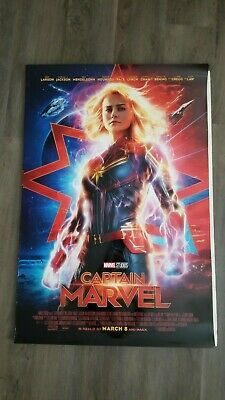 CAPTAIN MARVEL Payoff Poster Dbl Sided 27x40 Disney Brie Larson Avengers
