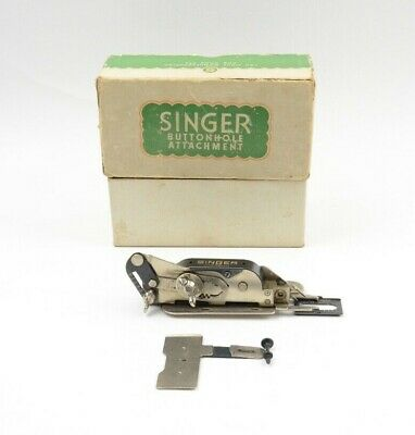 Vintage Singer Sewing Machine Buttonhole Attachment No.121795 UNTESTED AS IS