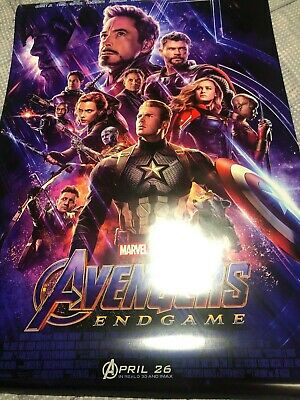 Avengers Endgame Double Sided DS Movie Theater Poster Final 27 x 40 AUTHENTIC B