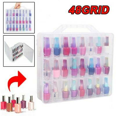 48 Lattice portable Universal Nail Polish Case Holder   Transparent display box