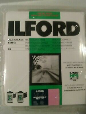 Ilford Value Pack- 8x10 Multigrade IV RC Deluxe Glossy 25 Sht with free shipping
