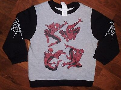 4 T Gymboree Gray Red SPIDER MAN Sweat Shirt Top Toddler New Marvel Boy NWT