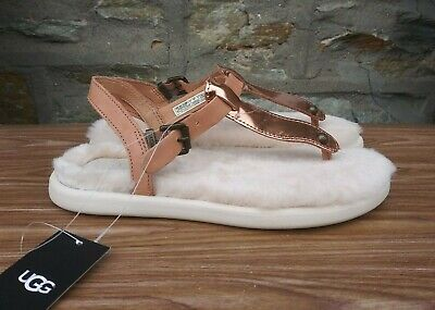 6134d416bbb UGG LOU LOU Sterling Leather Fluffie Womens Sandals Size Us 11/Uk ...