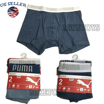PUMA Sport Lifestyle Men's Cotton Stretch Boxer Pack of 2 Underwear Random Color
