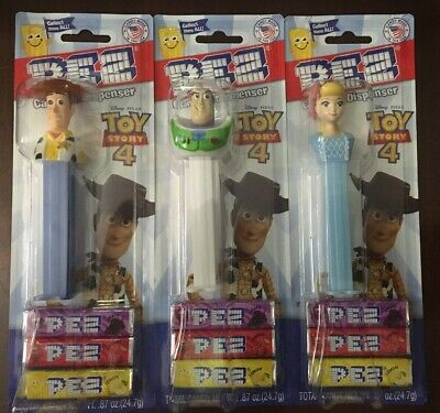 Toy Story 4 Pez Dispenser LOT OF 3! WOODY, BUZZ LIGHTYEAR, & BO PEEP Pixar