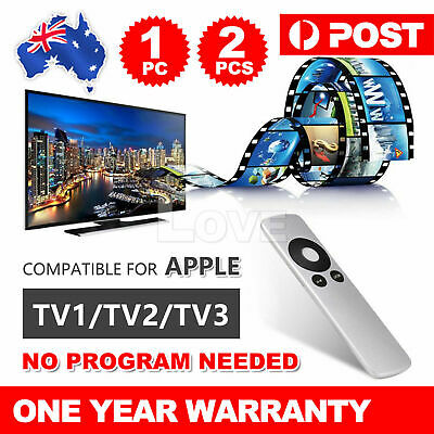 Universal Replacement Infrared Remote Control Compatible For Apple TV1 TV2 TV3