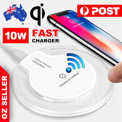 QI Wireless Charger Charging Pad Mat Receiver For iPhone 11 Pro Samsung Note10