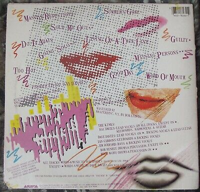 The Kinks ‎– Word Of Mouth - 1984 LP Arista ‎AL 8-8264