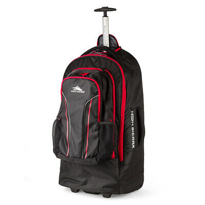 NEW High Sierra Composite Wheeled Duffle w/Daypack Black 76cm