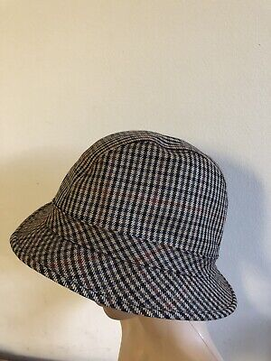 """Tesi Firenze Vintage Bucket Hat Made In Italy 100% Pure Wool, Size 23"""" /  58cm"""