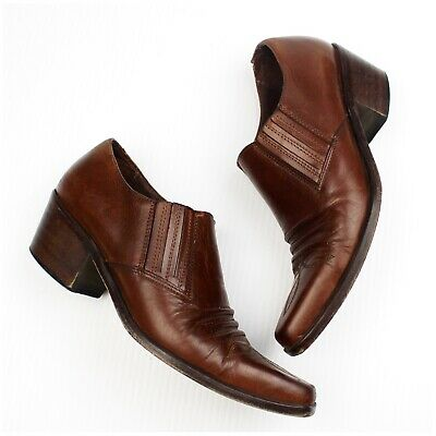aacaa89486cd7 VINTAGE GUESS SIZE 6 Ankle Western Leather Brown Cowboy Boots Bootie