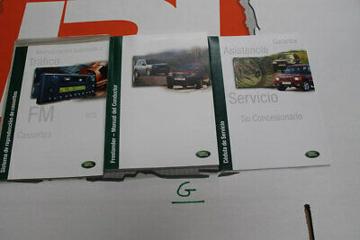 VDC000080SPA SPANISH Freelander 1 Owners hand book service portfolio + audio