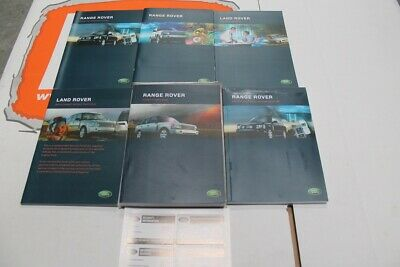 VDC500200ENX ENGLISH EXPORT Range Rover L322 Owners hand book service portfolio