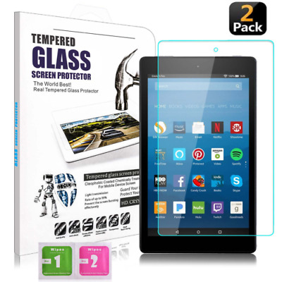 2x Screen Protector Cover Tempered Glass for Amazon Kindle Fire 7″ inch 2017