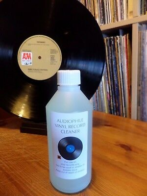 RECORD CLEANER 500ml. BEST ON EBAY. 1000'S OF DELIGHTED CUSTOMERS WORLDWIDE.