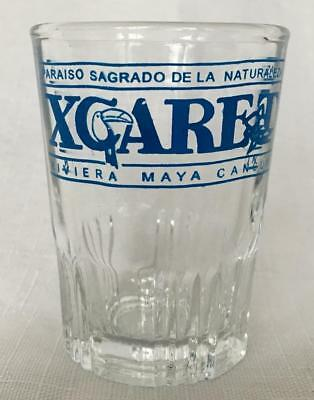 XCARET  Riviera Maya  Cancun Vacation Shot Glass Perfect Pre Owned Condition
