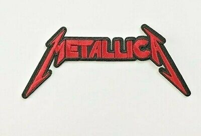 Metallica logo Iron on Sew Embroidered Patch Badge heavy metal red hetfield rock