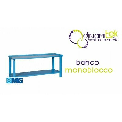 Mg102 Banco Monoblocco Con Piano In Lamiera Mg