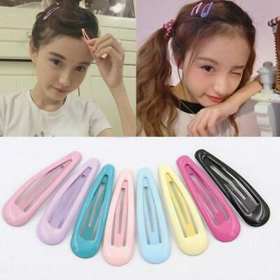 24pcs Women Girl Lady Solid Candy Color Barrettes for Girls Kids Snap Hair Clip