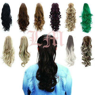 """24"""" Curly Clips Claw Ponytail Hair Extension Synthetic Hairpiece With Claw Clip"""