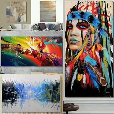 Modern Abstract Oil Painting Canvas Wall Art Poster Print Picture Home Decor CA