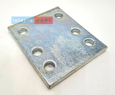 4 inch tow ball drop plate with multi holes zinc plated towing towbar