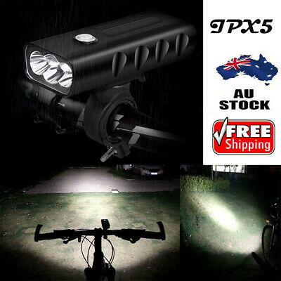1500LM T6 LED Mountain Bike Lights Rechargeable Front Lamp Headlight Waterproof