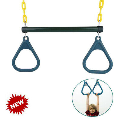 KID GYM RINGS Swing Trapeze Child Pull-up Strength Training Hanging
