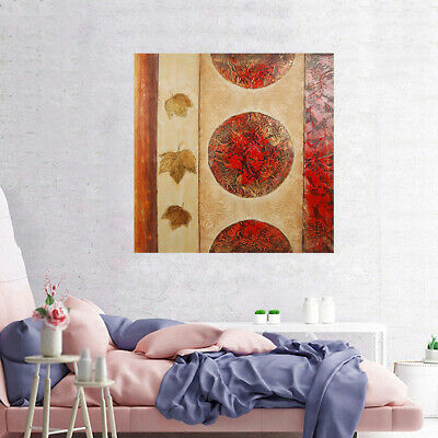Abstract Hand Painted Modern Art Canvas Oil Painting Home Decor Framed - Flag