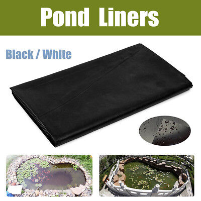 20 Size Black White Fish Pond Liners HDPE Membrane Gardens Pools Landscaping
