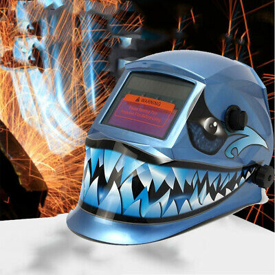 Blue Shark Pro Solar Power Auto Darkening Welding Helmet Welder Grinding Mask*
