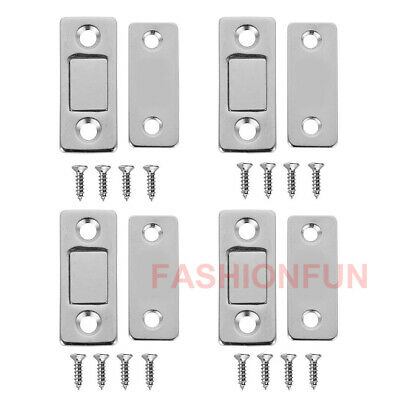 4 pcs Magnetic Cabinet Cupboard Door Fastener Latch Catch Lock Magnet Plate OZ