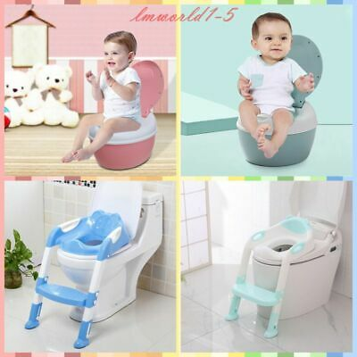 Toddler Toilet Chair Kids Potty Training Seat with Step Stool Ladder for Child.