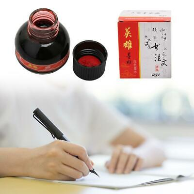 60ml Red Fountain Pen Ink with bottle