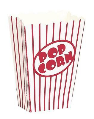 8 Pcs Party Popcorn Boxes Retro Cinema Party Favour Treat Boxes Birthday Party