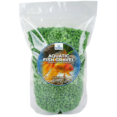 Sakana Green Aquatic Fish Gravel - Premium Aquarium Tank Pond Decoration Stones