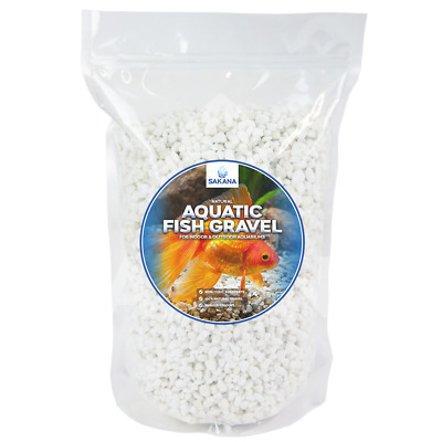 Sakana White Aquatic Fish Gravel - Premium Aquarium Tank Pond Décor Substrate