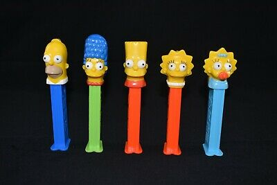 Full Set Of Collectable The Simpsons Pez Homer Marge Bart Lisa Maggie Used Empty