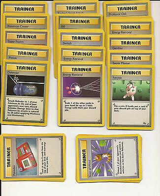 Lot Of 30 Pokemon Trainer Trading Cards - Good Used Condition