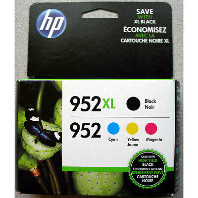 *NEW* Genuine HP 952XL Black & 952 Color Ink N9K28AN Combo Pack  *Sealed Box*
