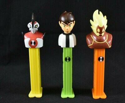 Full Set Of Collectable Ben Ten Pez Ben 10 Heatblast Waybig Used Empty