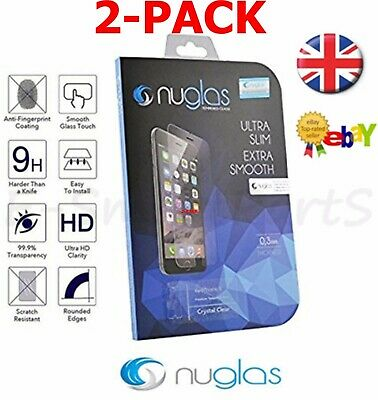 2X Genuine NUGLAS IPHONE 7 & 8 Tempered GLASS Gorilla Screen Protector TWIN PACK