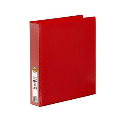 Marbig BINDER INSERT A4 CLEARVIEW 4 D-RING 38MM RED