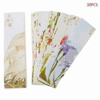 30pcs Creative Chinese Style Paper Bookmarks Painting Cards Retro Beautiful