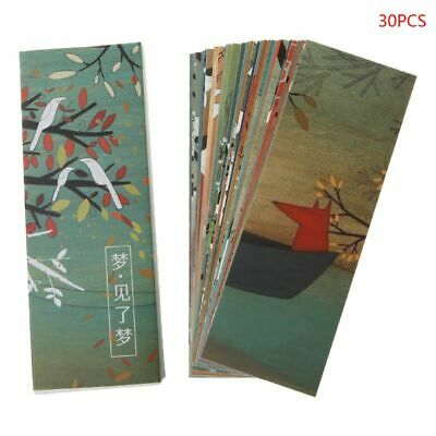 30pcs Creative Chinese Style Paper Bookmarks Painting Cards Retro Gifts Hot