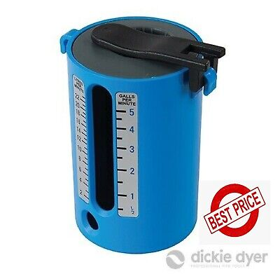 Flow Measure Cup Weir Gauge Blue 2-22Ltr / 1/2-5 Gallons Dickie Dyer 741908