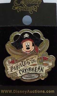 Disney Auction / Pins Pirates Of The Caribbean Mickey Disneyland Le 1000 Pin