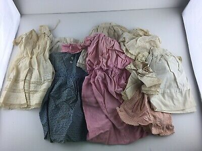 Lot Of Vintage Doll Clothes Dresses Skirts Blue Pink White
