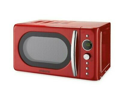 Ambiano Red Retro 700W 20L Microwave  #778 -SEE ALL PICTURES