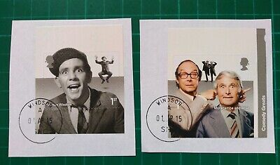 2015 Comedy Greats set of 2 Self Adhesive booklet stamps USED